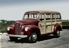 1941 International Harvester K-S StationWagon retro wallpaper