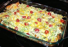easy dinners: nacho casserole.  ☀CQ #casseroles #quiche