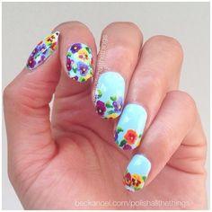 Spring floral#nails