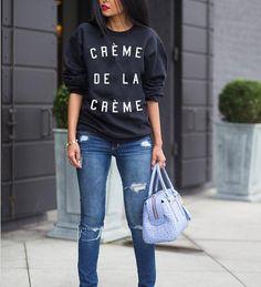 Creme De La Creme Sweatshirt - Luxury Brand LA - Shop Latest Trends and Hottest Apparel from Luxury Brand LA