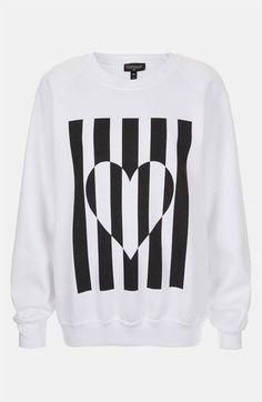 Topshop Heart Graphic Sweatshirt   Nordstrom