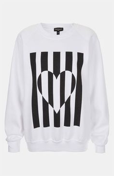 Topshop Heart Graphic Sweatshirt | Nordstrom
