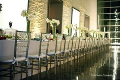 Long Dinner Table at Philadelphia Museum of Art, Perelman Building {Design: TableArt   Photo: Sophie Negron Photography}