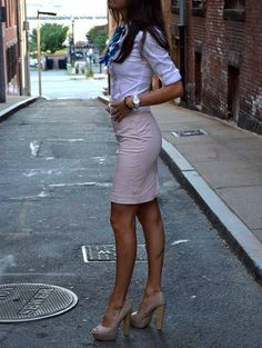 Make the skirt right at the bottom of the knee and it would be perfection:)
