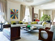 Traditional Living Room by Susan Maggard in New York, NY