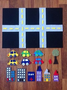 Imaginary Play Activity Felt Board Cars by WhisperingLions, $30.00
