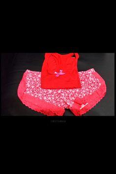 Pijama sexy roja