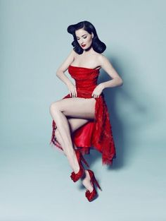 The most exquisite ultimate pin up girl in my eyes #ditavonteese stunning .dita