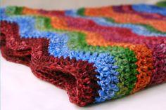 Crochet ripple blanket--adorable colors!
