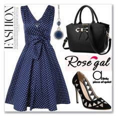 """""""Bowknot vintage dress"""" by semiragoletic ❤ liked on Polyvore featuring Nine West and vintage"""