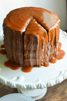 Chocolate Caramel Cake  http://www.sprinkledwithjules.com/home/2015/9/19/chocolate-caramel-cake