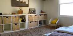 This unique photo is surely an inspiring and first-rate idea Montessori Bedroom, Montessori Baby, Attic Rooms, Creative Kids, Toddler Toys, Decoration, Baby Room, Playroom, Shelves