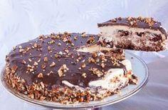 Η απόλυτη τούρταγια ειδικές περιστάσεις και όχι μόνο. Αφράτο, πεντανόστιμο παντεσπάνι με ξηρούςκαρπούς,με κρέμα ζαχαρούχου γάλακτος, καλυμμένη με γκανάζ Greek Sweets, Greek Desserts, Cold Desserts, Party Desserts, Food Network Recipes, Food Processor Recipes, Sweet Recipes, Cake Recipes, Happy Foods