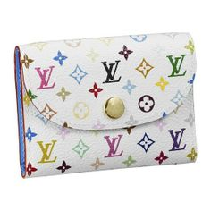 LOUIS VUITTON MONOGRAM MULTICOLORE BUSINESS CARD HOLDER M66559 - Monogram Multicolore canvas, beige calf lining, golden brass pieces  - Flap and press stud closure  - Front pocket for credit cards and passes  - Rear pocket for papers, receipts...  - Capacity: up to twenty business cards  Onlineforlouisvuitton.com
