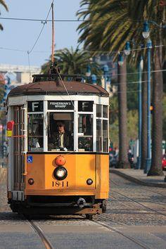 F-Line / Muni Metro    Muni Metro is a mass transit system in San Francisco. F line runs Market Street and North Beach, and connect to Fisherman's Wharf.    Muni Metro (wikipedia)