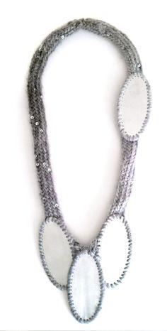 'Crown Jewels', 2012, Necklace, wool, zinc
