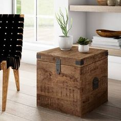 Mistana™ Izabella End Table & Reviews | Wayfair Trunk End Table, Crate End Tables, End Table Sets, Wood End Tables, End Tables With Storage, Table Storage, Coffee Table With Storage, A Table, Side Tables