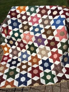 Jayne's Quilting Room: Finished That 6-Point Star Quilt!