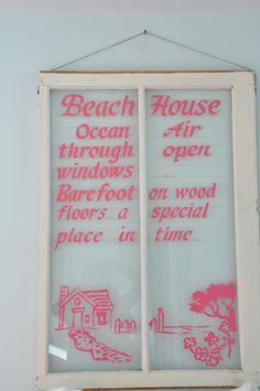 Jane Coslick Cottages window with painted quote
