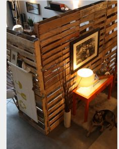Pallet wall dividers.