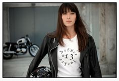 .......a black helmet, a black leather..and a black bike
