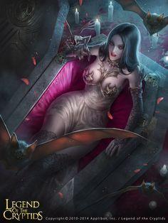 Charlene of the Vampire Agency Regular, Zeen Chin on ArtStation at https://www.artstation.com/artwork/yE2J