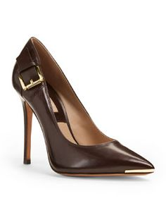 Michael Kors audrey buckle - Yes please ! Dream Shoes, Crazy Shoes, Me Too Shoes, High Heel Pumps, Pumps Heels, Stiletto Heels, Winter Stil, Mocassins, Kinds Of Shoes