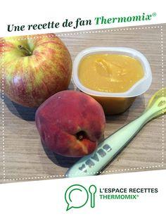 Compote pomme - pêche par Heuln. Une recette de fan à retrouver dans la catégorie Alimentation pour nourrissons sur www.espace-recettes.fr, de Thermomix<sup>®</sup>.