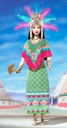 Barbie Dolls of the World: Princess of Ancient Mexico. Love the headdress.