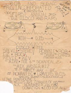 Most of the Old School Party Flyers were Designed By Buddy Esquire and Phase 2.