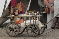 Viking hand cart, more likely a goat cart that would've been pulled by goats or perhaps large dogs.