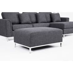 OSLO by Beliani Modern Fabric Upholstered Sectional Sofa - Overstock™ Shopping - Big Discounts on Beliani Sectional Sofas