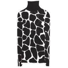 mytheresa.com - Animal print silk turtleneck sweater - Luxury Fashion for Women / Designer clothing, shoes, bags