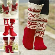 Denver - Knitted socks for men with Nordic pattern and flounce, in DROPS Karisma. Sizes 35 to - Free pattern by DROPS Design Drops Design, Knitting Patterns Free, Free Knitting, Knitting Socks, Free Pattern, Knitting Needles, Crochet Patterns, Knitted Christmas Stockings, Christmas Knitting