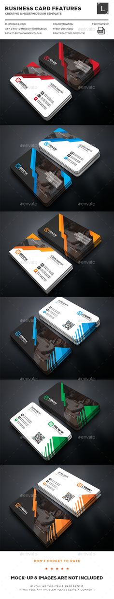 Business Cards Bundle — Photoshop PSD #clean #standard • Available here → https://graphicriver.net/item/business-cards-bundle/16272373?ref=pxcr