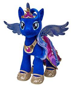 "Build-A-Bear Workshop ""My Little Pony"" Princess Luna plush My Little Pony Princess, Mlp My Little Pony, My Little Pony Friendship, Custom Teddy Bear, Disney Characters Costumes, Nightmare Moon, Baby Doll Accessories, Little Poney, Build A Bear"