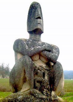 Jardin de sculpture de la Dhuys. Chessy. Île-de-France