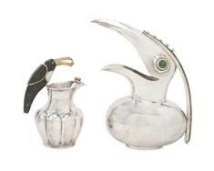 Buy online, view images and see past prices for Two Los Castillo silver plated bird pitchers. Invaluable is the world's largest marketplace for art, antiques, and collectibles.