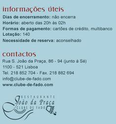 Contact info for Clube de Fado