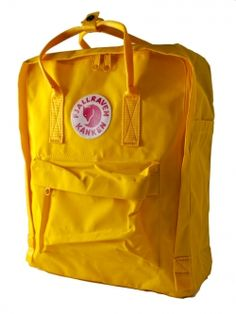 Kanken Backpack in Warm Yellow By Fjallraven--another source. free shipping.