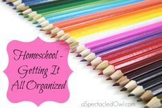 Homeschool - Getting It All Organized Homeschool Organization
