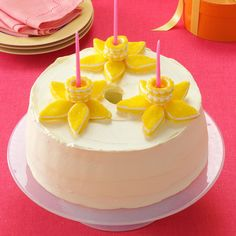 Lemony Daffodil Cake Recipe -The lemony yellow color of a daffodil reminds us of springtime and new beginnings. My grandma used to make this cake around Easter every year. In our family, we like to serve this cake cold, right out of the refrigerator. —Lori Kampstra, Franklin, Wisconsin