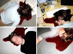 haha. creepy inflatable blood pool pillow