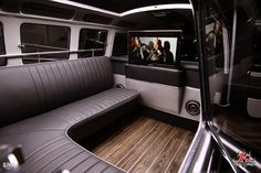 Inside of Kindigit Design VW 1962 Bus