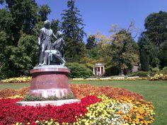 The park in Baden bei Vienna in Austria