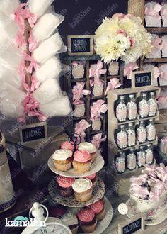 www.kamalion.com.mx - Candy Bar / Decoración / Vintage / Teddy / Pink / It's a girl / Dulces / Cupcakes / Rosa / Dulces / Lecheros / Rústico / Baul / Maletas / Algodones.