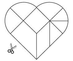 tangram heartshaped el İşi hobi pinterest