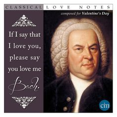 Image result for Bach pun valentines