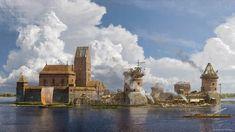 Construcción del castillo de Trakai, cortesía de Vilius Petrauskas.