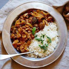 Houbový Stroganoff Whole 30 Recipes, Quick Recipes, Czech Recipes, Ethnic Recipes, Vegetarian Recipes, Healthy Recipes, Quick Healthy Meals, Chana Masala, Stuffed Mushrooms